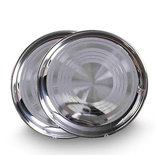 IndiaBigShop Stainless Steel Round Strip Design Thali for sale  Delivered anywhere in USA