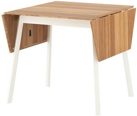 Ikea Ps 2012 Klapptisch In Weiss Aus Bambus 74 106 138x80 Amazon De Kuche Haushalt