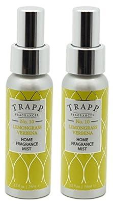 Trapp Home Fragrance Mist, No. 10 Lemongrass Verbena, 2.5-Ounce (2-Pack)