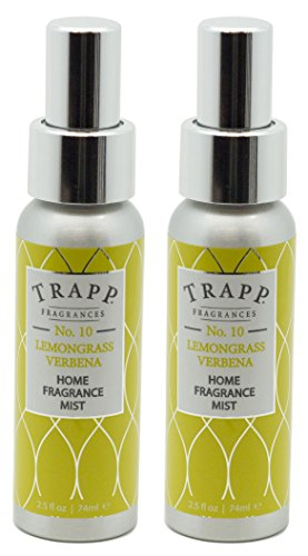 Trapp Home Fragrance Mist, No. 10 Lemongrass Verbena, 2.5-Ounce (2-Pack)