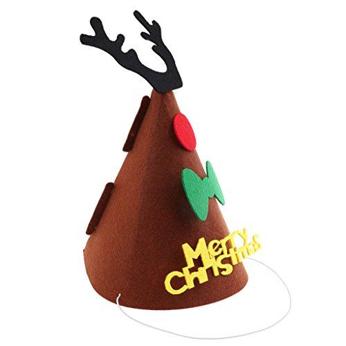 MonkeyJack Merry Christmas DIY Felt Fabric Cone Hat
