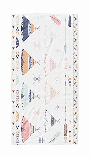 Shorping Bath Towels for Travel,Tribal Teepee Arrow Collections 30x60 Inch Large Pool Towels for Body Bath,Swimming,Travel,Camping,Sport