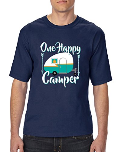 Ugo One Happy Camper Gift 4 Camping Hiking Outdoors BFF Birthday Christmas Ultra Cotton Unisex T-Shirt Tall - Zone Dress Store Da