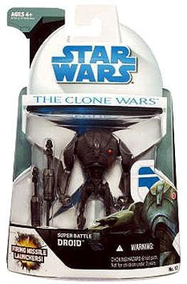 Star Wars Clone Wars Animated Action Figure No. 12 Super Battle Droid (Star Wars Super Battle Droid Action Figure)