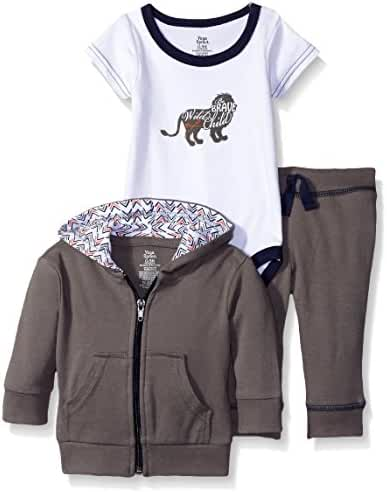 Yoga Sprout Baby Track Jacket Body Suit and Pant Set