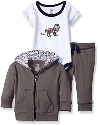 Yoga Sprout Baby Girls' Infant 3 Piece Jacket, Top and Pant Set,