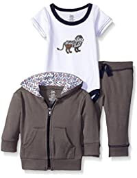Baby Girls' Infant 3 Piece Jacket, Top and Pant Set,