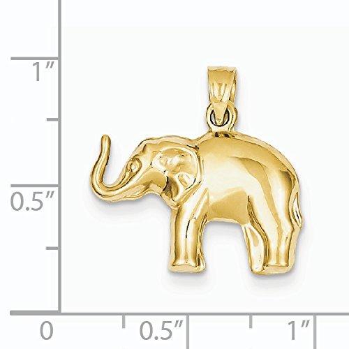 Pendentif éléphant or 14ct-Dimensions 21,5x 21.1mm