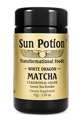 White Dragon Matcha Green Tea Powder 55g by Sun Potion - Boutique Style Organic Ceremonial Grade - Finest Exclusive and Highest Quality - Japanese Superfood - Antioxidant Energy Health Fat - Sun Boutique