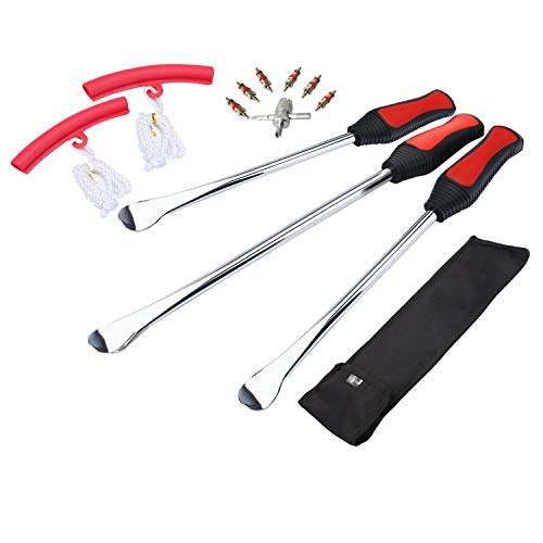- Dr.Roc Tire Spoons Lever Iron Tool Kit Motorcycle Bike Professional Tire Change Kit w/Bag - 114.5