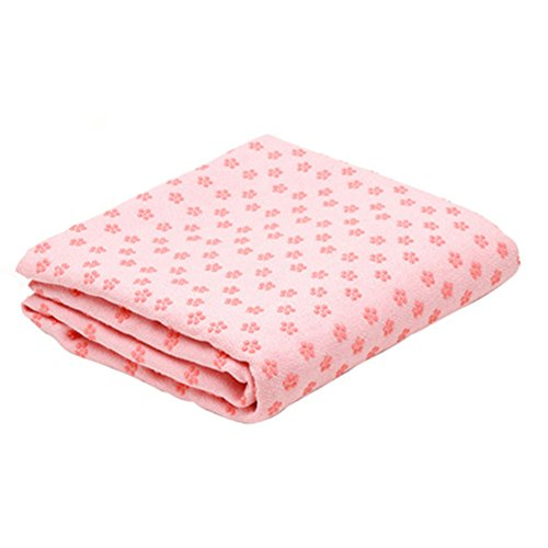 Xerhnan Perfect Yoga Towel - Super Soft, Sweat Absorbent, Non-Slip Hot Yoga Towels | Perfect Size For Mat - Ideal For Hot Yoga, Pilates, Sports, And More! 100% Satisfaction Guarantee! (pink)