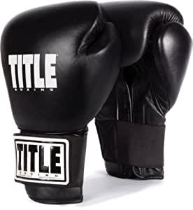 TITLE Boxing Eternal Pro Training Gloves, Black, 16-Ounce