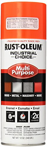 Rust-Oleum 1654830 1600 System Multi-Purpose Enamel Spray Paint, 12-Ounce, Fluorescent Orange