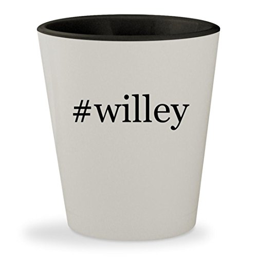 #willey - Hashtag White Outer & Black Inner Ceramic 1.5oz Shot Glass