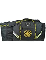 Lightning X Fireman Premium 3XL Firefighter Rescue Step-In Turnout Fire Gear Bag w/Shoulder Strap & Helmet Pocket