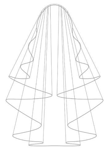 crema 1 di piano sul lunghezza sposa da vetro bordo con sfere dell'anca alla Velo RpnEwxqBvx