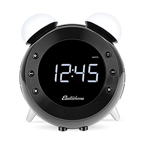 electrohome retro alarm clock radio with motion activated import it all. Black Bedroom Furniture Sets. Home Design Ideas