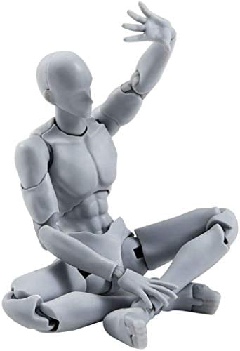 Artists Sketch Movable Limb Action Figure ModelFlexible Body Human Mannequin KitArticulated Kids Student Assemble Painting Toywith Display Base and Pose PartsAbout 13-15cm ({type=string value=B})