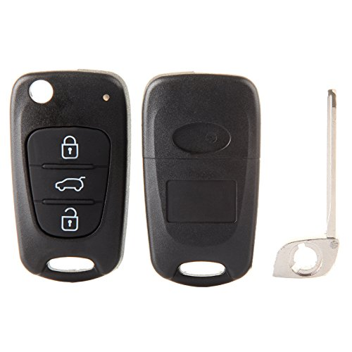 ECCPP 2X 3 Button Replacement Uncut Keyless Entry Remote Control Car Key Fob Shell Case for Kia Rio/Rondo/ Soul/Sportage by ECCPP (Image #1)