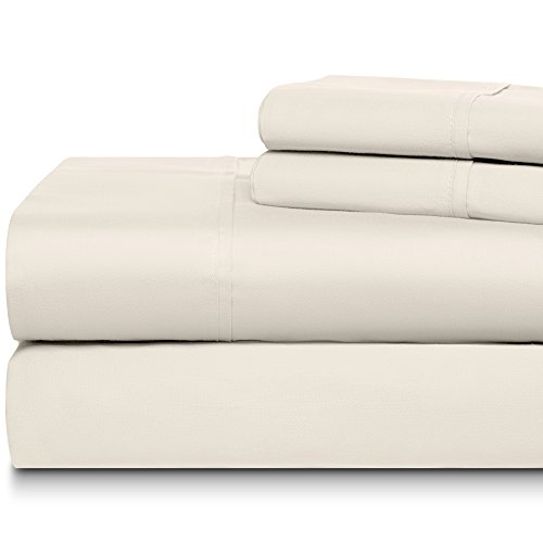 500 Tc Pillow - DREAM CASTLE 500 Thread Count 100% Cotton Sheet Set, Soft Sateen Weave,Queen Sheet, Deep Pockets,Hotel Collection,Luxury Bedding-Bestseller- Super Sale 100% Cotton, Ivory by Linens