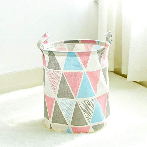 TtKj Cotton Hemp Storage Basket Waterproof Small Hanging Bucket Cotton Hemp Storage Bucket Sundries Finishing Storage Bucket