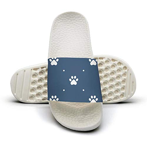 for flip Footprint Flops Of Abstract Bone Colorful Paw Indoor Dog Women HSJDAPOCOAQ with 8qwZCSg