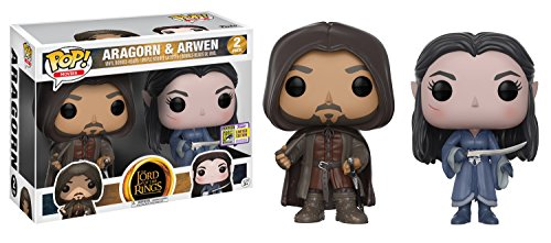 Lord of the Rings Funko POP! Movies Aragorn & Arwen Exclusive Vinyl Figure 2-Pack -