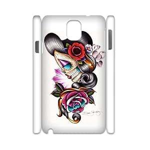 Custom Art Sugar Skull Figures Tattoo Case for Samsung Galaxy Note 3 N9000 with Sad Girl yxuan_3488343 at xuanz