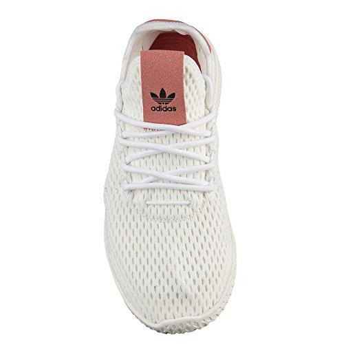 Adidas Bambini Pharrell Williams Scarpe Da Tennis Bianche / Scarpe Bianco / Rosa Grezzo