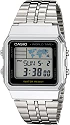 Casio Men's A500WA-1ACF Classic Silver-Tone Watch