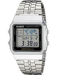 Men's A500WA-1ACF Classic Silver-Tone Watch