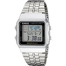 cd140711343 Casio Men s A500WA-1ACF Classic Silver-Tone Watch