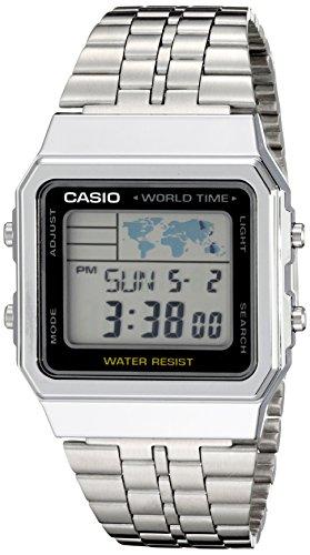 Casio A500WA 1ACF Classic Silver Tone Watch