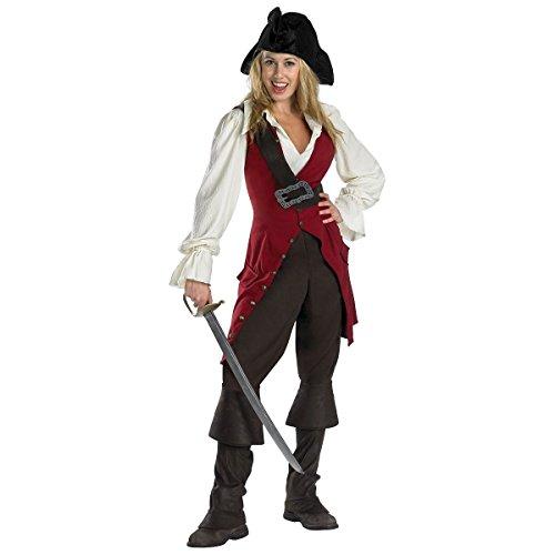 [Pirates of the Caribbean Elizabeth Swann Deluxe Women's Adult Disney Costume] (Deluxe Adult Elizabeth Costumes)