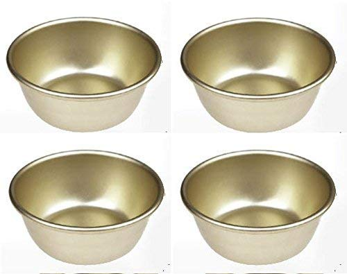 Set of 4 Nickel Silver Plated Aluminum Traditional Bowls for Korean Raw Rice Wine Ramen Noodles ()