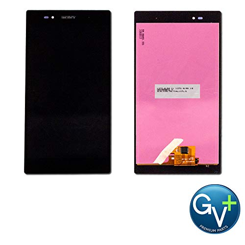 Group Vertical Replacement Screen LCD Digitizer Assembly Compatible with Sony Xperia Z Ultra LTE (Black) (C6806, C6833) (GV+ Performance) (Xperia Z Ultra Screen Replacement)