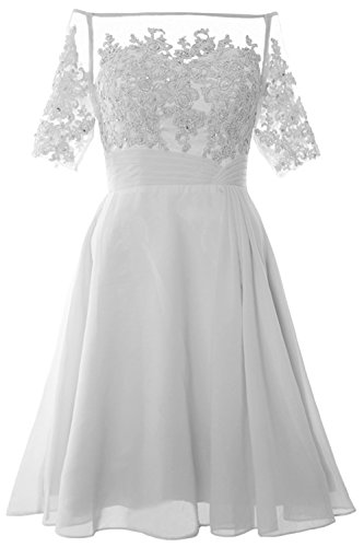 Mother MACloth Dress Off Weiß of Women Shoulder Party Cocktail Bride Gown Short FFO06