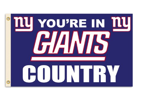 Fremont Die NFL New York Giants 3-by-5 Foot in Country Flag]()
