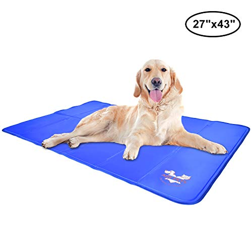 Arf Pets Pet Dog Self Cooling Mat Pad for Kennels, Crates and Beds 27x43 (Best Dog House For Hot And Cold Weather)
