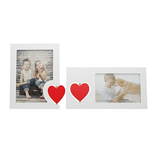 SUMGAR Unique Family Picture Frame Set 5x7 and 4x6 with Whit