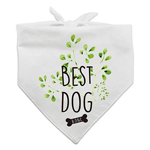 family Kitchen Best Wedding Dog Bandana, Bridal Party Dog Bandana, Wedding Photo Prop, Pet Scarf Accessories