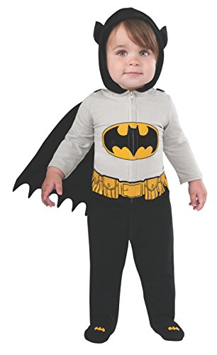 Rubie's Baby's DC Comics Superhero Style Baby Batman Costume, Multi, 6-12 -