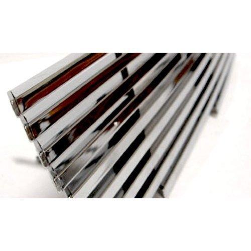 (Fits Honda Pilot 2009-2011 Stainless Steel Chrome Billet Grille Overlay Insert 4DR (Top & Bottom) (DH-HND-10TB))