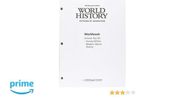 World History: Patterns of Interaction: Workbook Answer Key ...