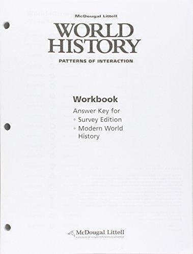 World History: Patterns of Interaction: Workbook Answer Key