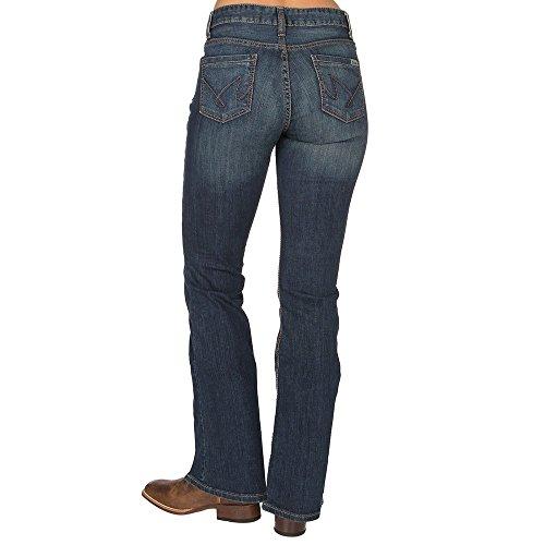Cruel Girl Womens Hannah Moderate Rise Slim Flare Jeans 5 Long Dark Wash