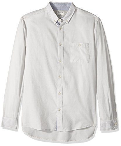 Quiksilver Men's Waterfalls Long Sleeve Shirt, Micro Chip, Medium by Quiksilver