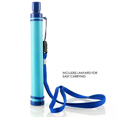 Portable Personal Water Filter Purifier Rescue Straw for Hiking Camping Travelling Emergency Preparedness