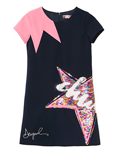 Desigual star Blue Girl Dress 5000 Vest navy UOaz4q0U