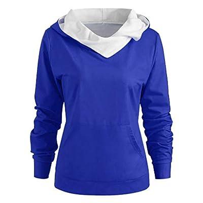 AOJIAN Women's Ugly Christmas Sweater Long Sleeve Hooded Xmas Snowflake Antlers Print Sweatshirt Pullover